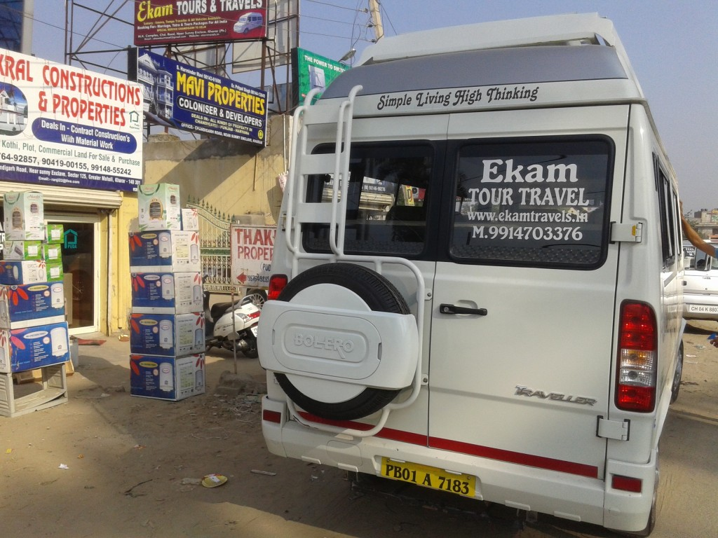 tempo traveller in chandigarh